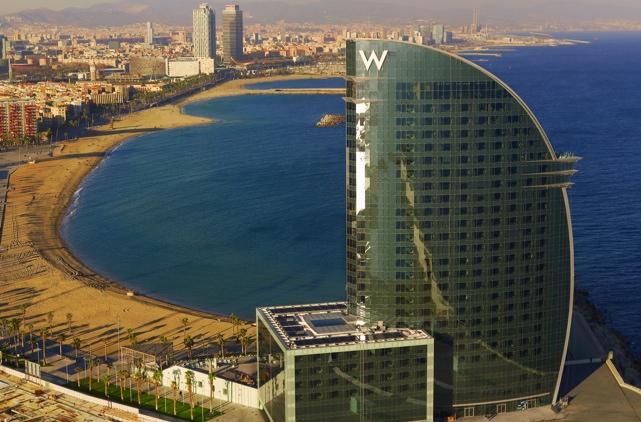Hotel w barcelona hotel en barcelona centro for Piscine w barcelone