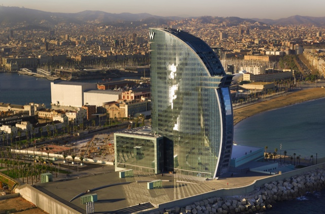 Hotel w barcelona hotel in barcelona center for Hotels barcelone